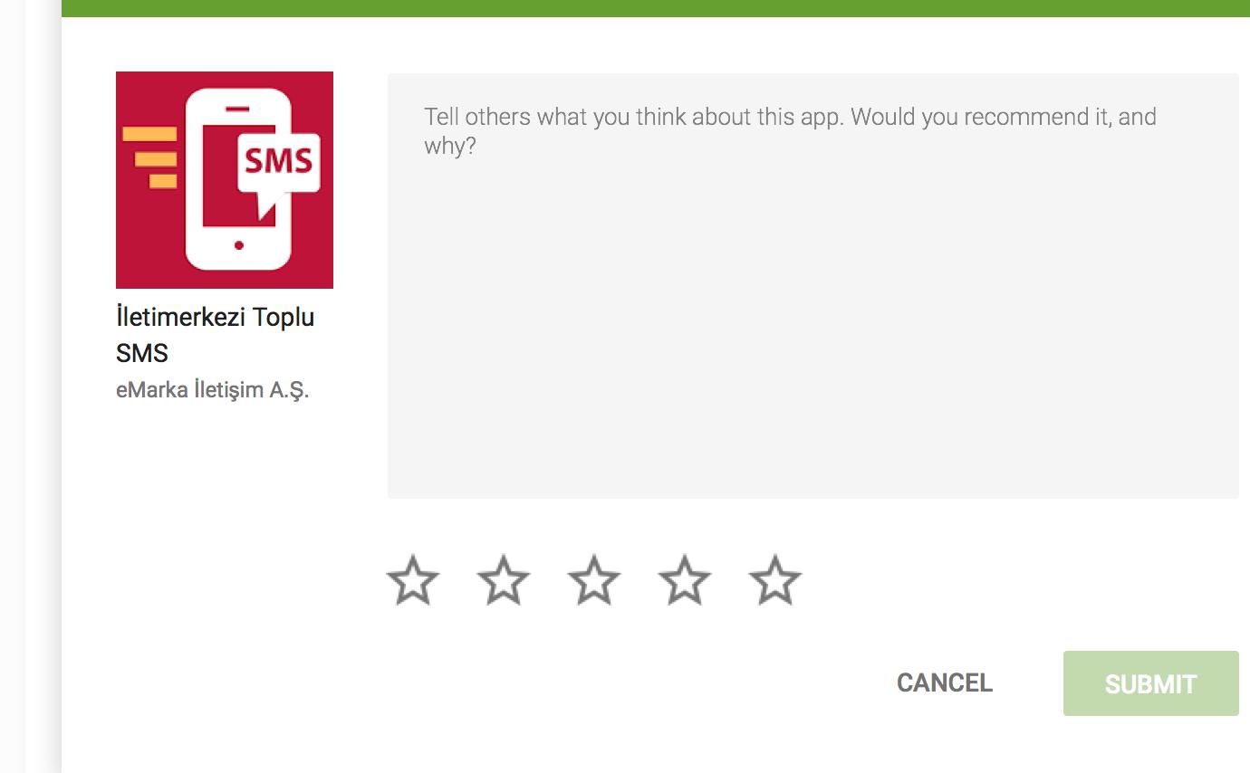 Android Uygulamamıza Puan verdiniz mi?